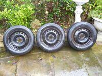 Vauxhall astra j 2010 onwards steel wheels and tyres 3 in total