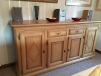 SOLID OAK SIDEBOARD,