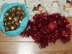 Christmas decorations, mixed lot