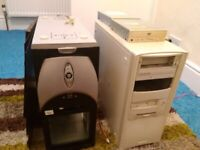 OLD PC towers / motherboards and parts bundle £10