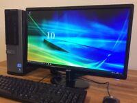 "**FULL SET Dell - i5 Quad Core 4GB Ram - 500GB - Windows 10 PC+ 22"" Monitor Desktop PC Computer"