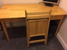 Quality wooden desk and chair
