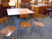formica table and 3 chairs.
