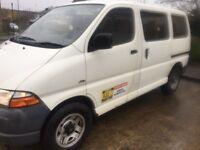 Toyota hiace 9 seater minibus- spares or repairs