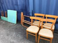 Retro dining table and chairs FREE DELIVERY PLYMOUTH AREA