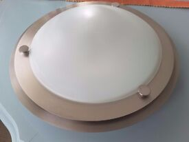 Ceiling/wall light brushed chrome and frosted glass for bathroom/hall/ kitchen