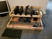 4 GPU ethereum mining rig. Up to 1000M/H
