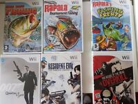 6 Original Wii games in original box and instructions