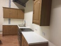 Complete kitchen, Cupboards, doors, worktops, sink, taps