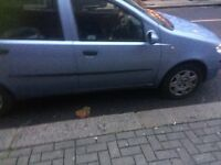 Only 33000 on clock Baby blue fiat punto