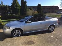 SILVER VAUXHALL ASTRA CONVERTIBLE 2004, NEW 12 MONTHS MOT, FULL SERVICE HISTORY, 2 OWNERS FROM NEW