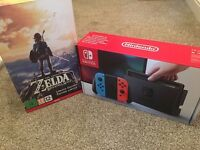 Nintendo Switch Console + The Legend of Zelda - Breath of the wild - LIMITED EDITION