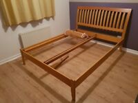 King Size Bed Frame in Beech Wood, *Not Double Size*