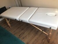 Portable massage table with carry case