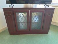 Mahogany tv unit / corner cabinet