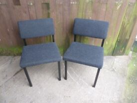 2 x Square Office Fabric Covered Chairs Delivery Available £8