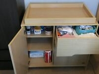 Baby changing Unit with Drawes - Solid Beech Wood Unit *Excellent Condition*