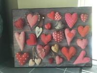Large heart canvas