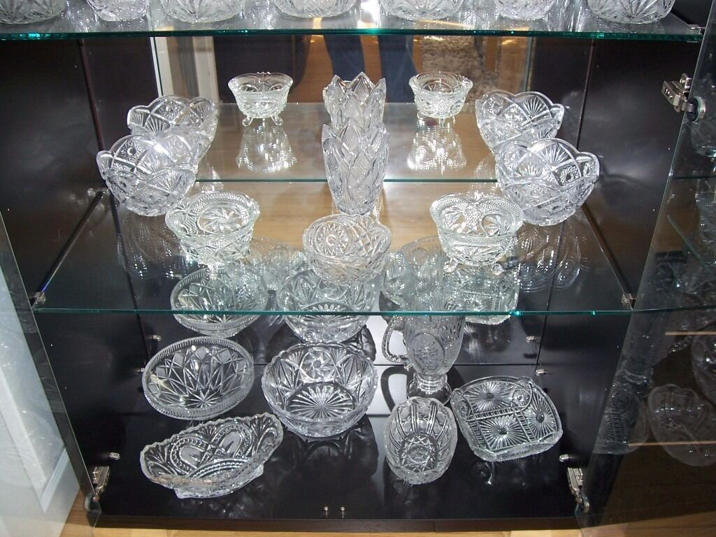 Crystal 71 Items, Glasses, Bowls and Jug.