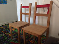 2 wooden chairs for sale