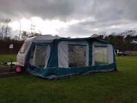 Caravan awning and winter cover