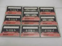 20 BASF LH-Extra I C90 Ferric cassettes - recorded once, now blank & ready to record