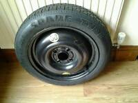 Ford Focus Space Saver Spare Wheel, with Pirelli T 125/ 80 R15 tyre. 4 stud fitting UNUSED