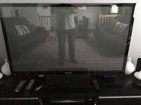 55inch Samsung 3D HD TV complete with 4 pairs of glasses