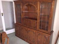 Oak Harris & Baker Cocktail Unit/ Drinks Cabinet - As New - Antique