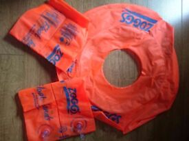 Zogg arm bands and swim ring