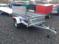 BRAND NEW 7X4 TRAILER- BOX TRAILER- CAMPING TRAILER FLAT WITH RAMP TIPPING