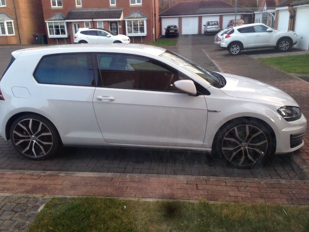 white 3 door mk7 golf gtd in south shields tyne and wear gumtree. Black Bedroom Furniture Sets. Home Design Ideas