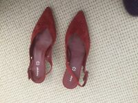 Ladies red shoes Autograph size 5