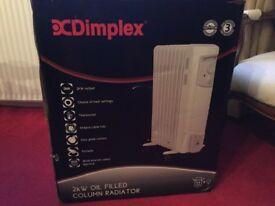 Dimplex 2kw oil filled radiator