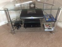 Glass & Chrome 3 Tier TV Stand - Mint condition - No marks Or Scratches - Only 8 months Old