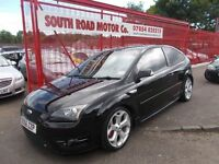 *FORD FOCUS*ST 2.5 '56*220BHP!*PANTHER BLACK*IMMACULATE*FULL YEARS MOT*AWESOME*YOURS FOR ONLY £5995*