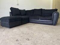 Black corner sofa, couch, suite, furniture 🚛🚚🚛