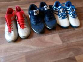 Boys trainers £6 for 3 pair's