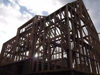 Bespoke Oak Structures, Oak Beams, Oak Trusses, Oak Staircases, Oak Roof Frames, Oak House Frames.