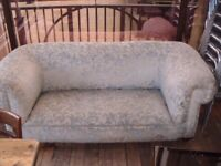 6ft Upholstered Home Office Stuffed Sofa Floral Pattern High Back £49 ono