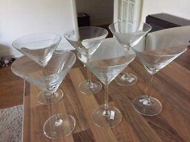 5 Martini Glasses