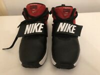 Nike 'Team Hustle' trainers UK size 1 RED/BLACK