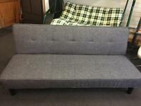 Brand New Grey Fabric Clic Clac Sofa bed