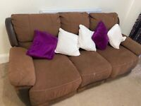 Free recliner 3 seater sofas