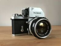 Nikon F Photomic Ftn SLR 35mm Film Camera with Nikkor 50mm f1.4 Lens.