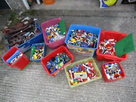 9 boxes of lego