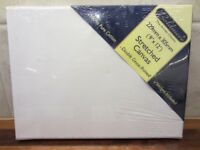 2 artists stretched canvas, brand new, with wedges, Gesso primed.