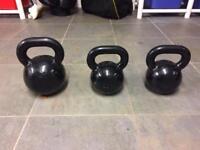 Kettle bells 2x20kg, 1x32kg
