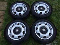 Vw transporter T5 alloys/ steel wheels