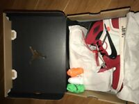 Nike x 'Off White' Air Jordan size 7.5 UK Virgil Abloh The Ten